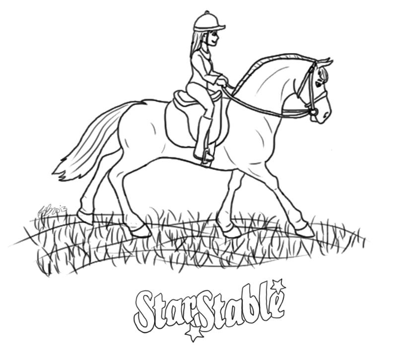 Paarden Kleurplaat Spirit Fun Stuff Star Stable Online Ride Through